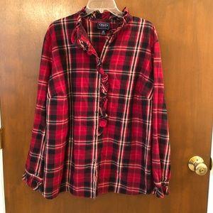 Chaps feminine flannel shirt